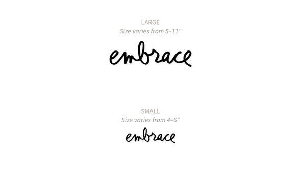 Acrylic word comparison image embrace original wsizes original