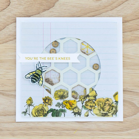 Pixnglue bees knees card img 9166