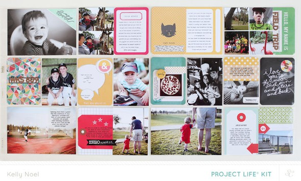 2014 project life weeks 8   9   studio calico bluegrass farm kit   kelly noel