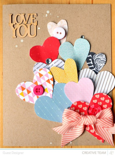 I love you card by paige evans
