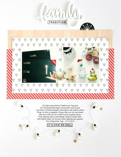Family traditon scrapbooking layout 1 original