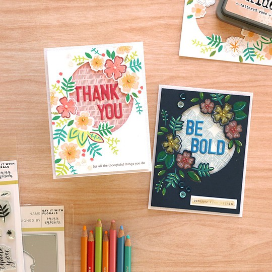 Say it with florals cards by natalie elphinstone original