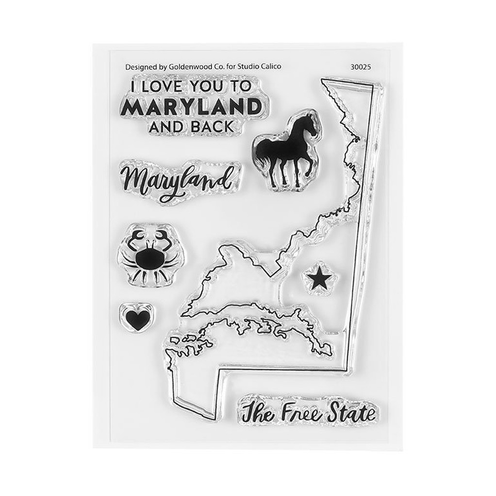 30025 4x3ilovemarylandstamp
