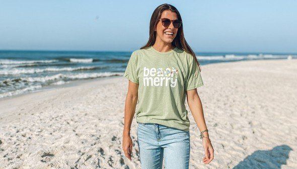 118871 beach merry lights short sleeve tee  women seagreen slider1 original