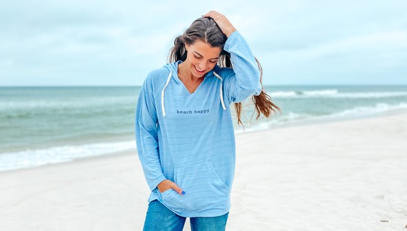 121783 simple beach happy french terry hoodie women dusty blue slider2 original
