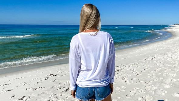 129166  beachy words long sleeve tee women white slider5 original