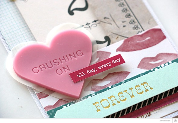 Crushing card heart by natalie elphinstone original