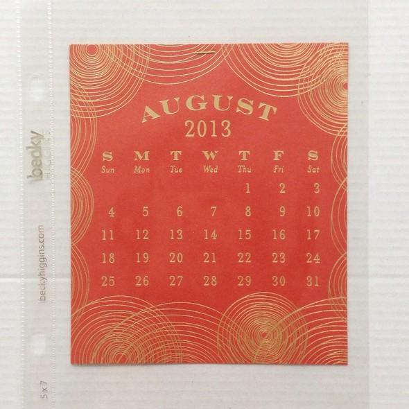 Week 32   calendar insert