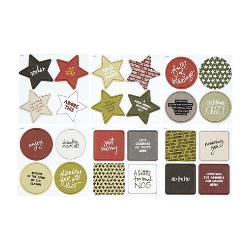 Picture of December Daily® December Moments Chipboard Bundle