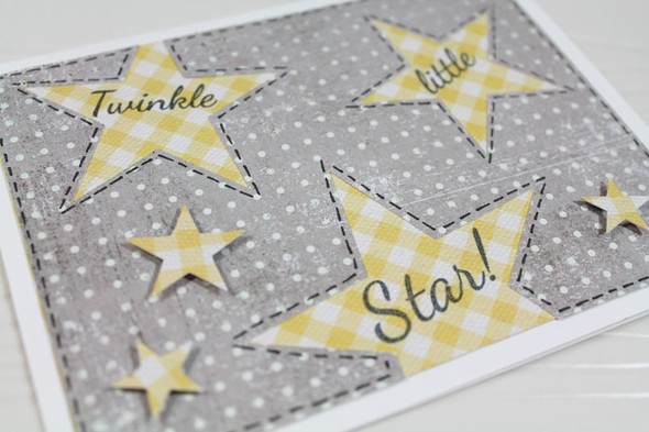 Star baby announcement close up