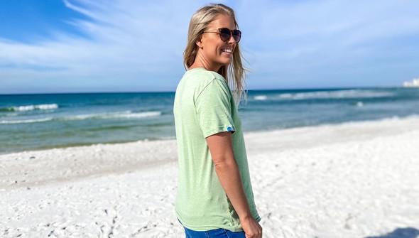 134268 beach lucky short sleeve tee women sea green slider4 original