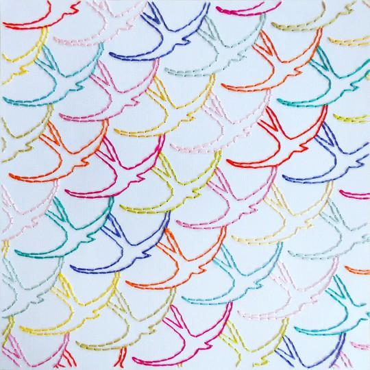 Stitched birds by paige evans original