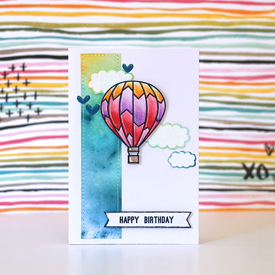 Balloon card by natalie elphinstone original