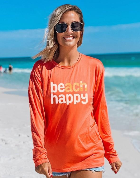 152533 beach happy long sleeve sun shirt coral women slider 1 original