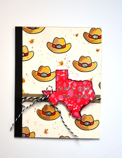 Hats off texas card original
