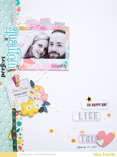 Perfectmoments scatteredconfetti scrapbooking layout citrustwistkits october pinkpaislee 1 original
