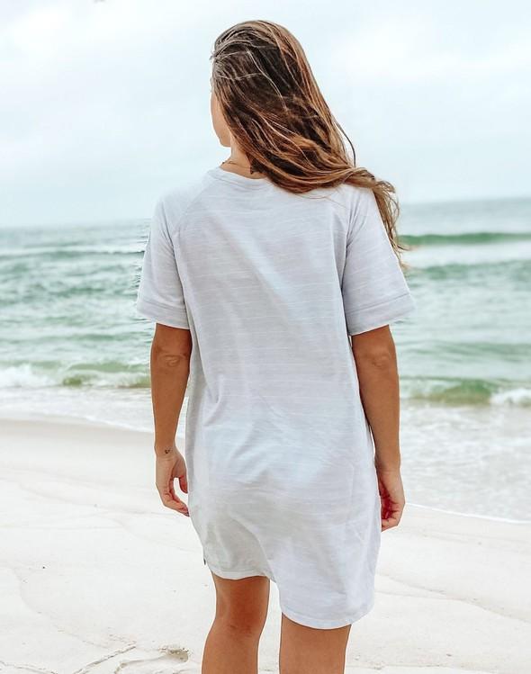 121977 simple beach happy french terry dress oatmeal women slider 5 original