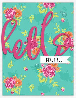 Card   hello beautiful original