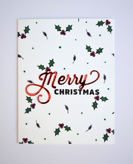 Christmas holly card original