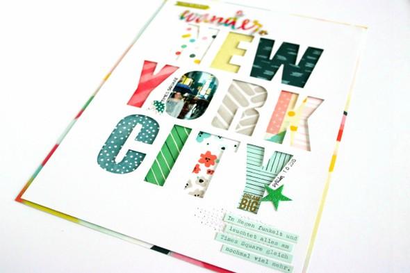 New york city scrapbooking layout 4 original