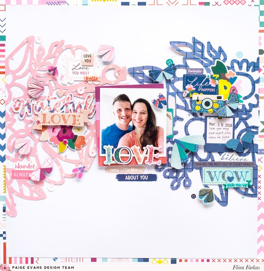 9x9 pick me up blue and pink layout original