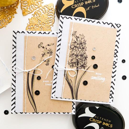 Altenew baf hyacinth patricia roebuck cards  original