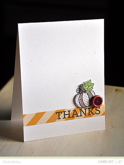 Pumpkin thanks card