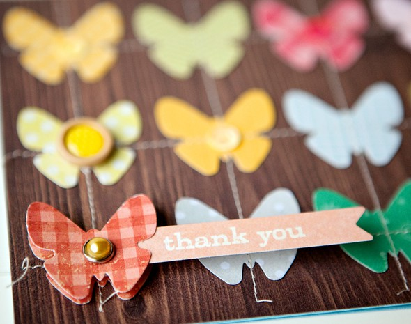Thank you butterfly card   detail