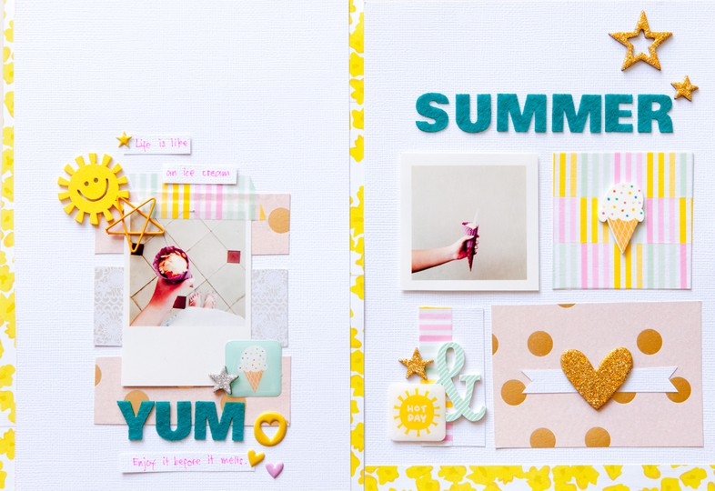 Summer double page by evelynpy original