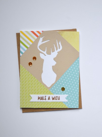 Patchwork buck card original