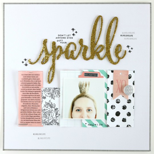 Sparkle scrapbooking layout 1 original