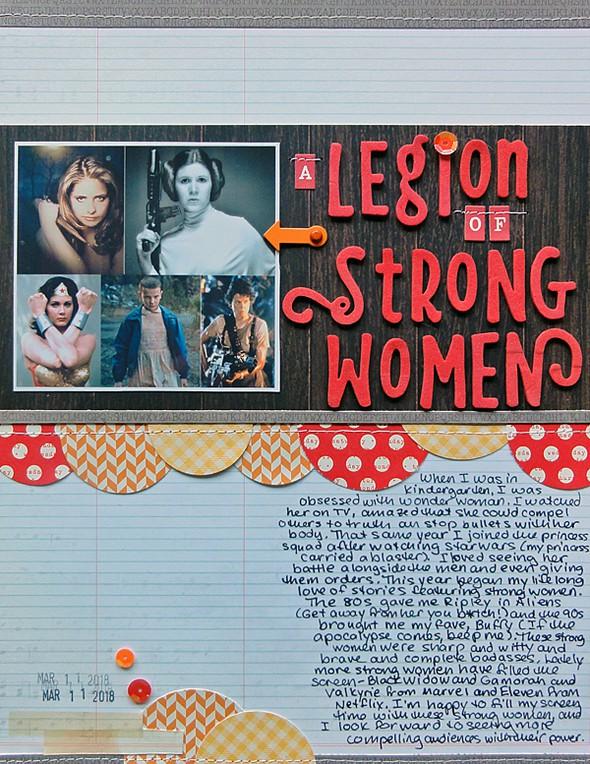 A legion of strong women by jennifer larson original