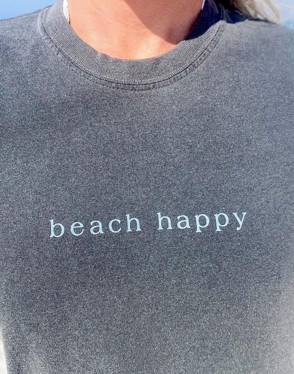 154087 simple beach happy comfort colors short sleeve tee pepper women slider 2 original