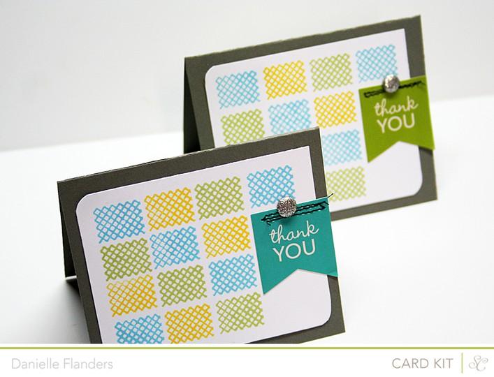 Thank you card set2