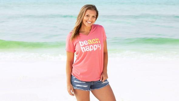 Beachhappy womensvneck melon slider1 original