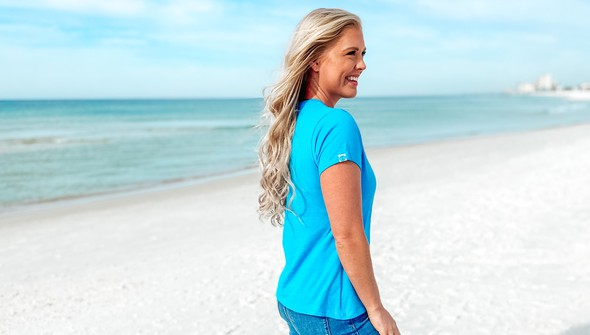 128994 beach love by callie danielle v neck tee women 30a blue slider4 original
