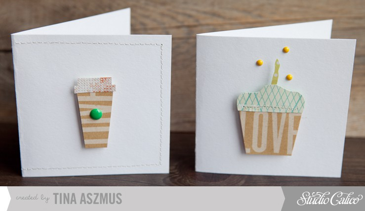 Coffee and cupcake cards