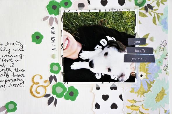 College campus puppy layout 100 days of scrapbooking laura rahel %25283%2529 original