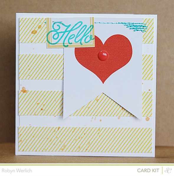Card hello love rw