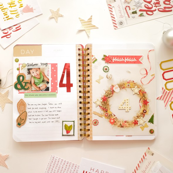 December daily by evelynpy day 4 full spread original