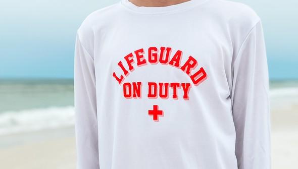 152592  lifeguard on duty long sleeve sun shirt kids white slider3 original