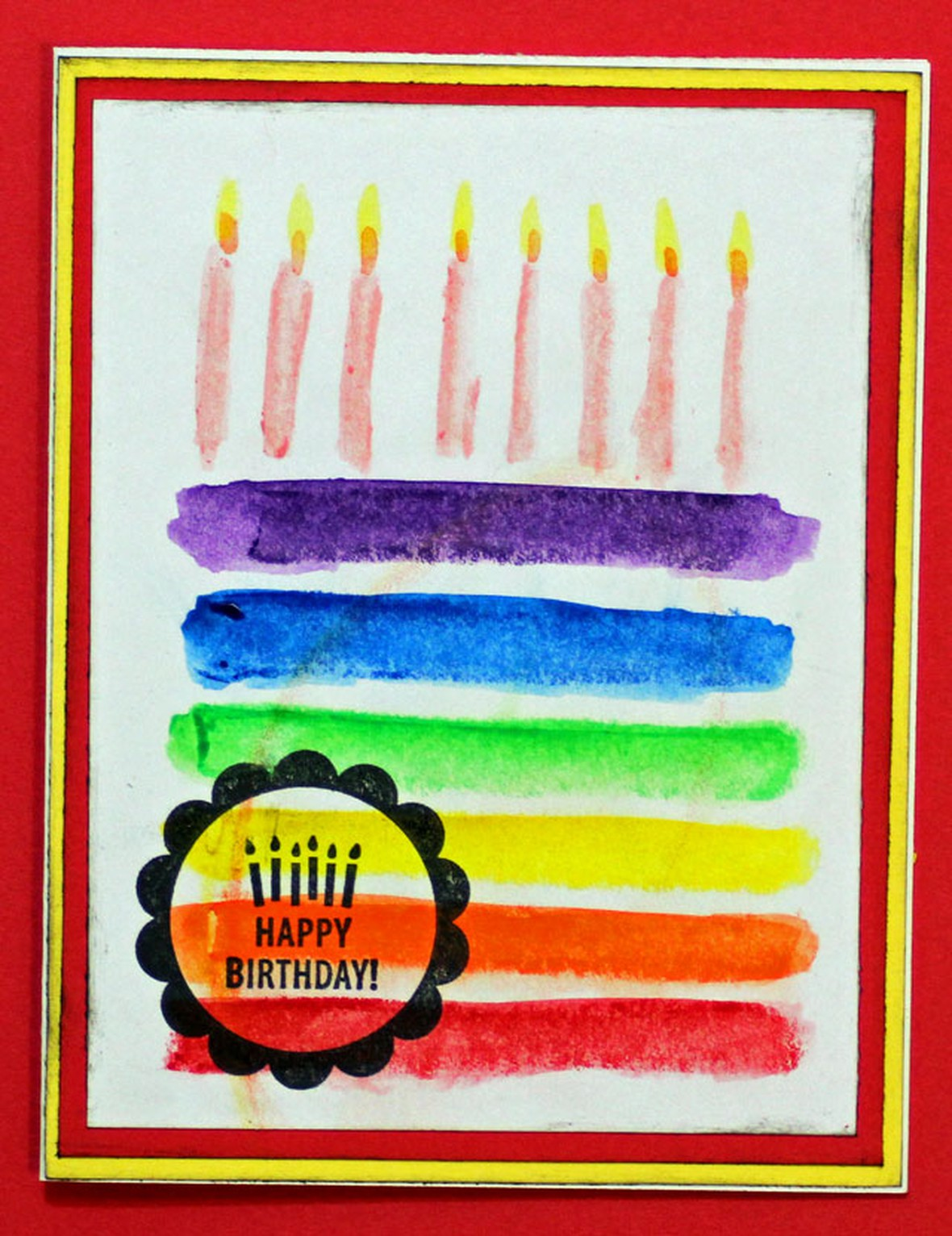 Watercolor rainbow cake car original