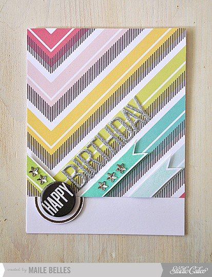 Happy birthday card (card kit  add ons 2 3   5)