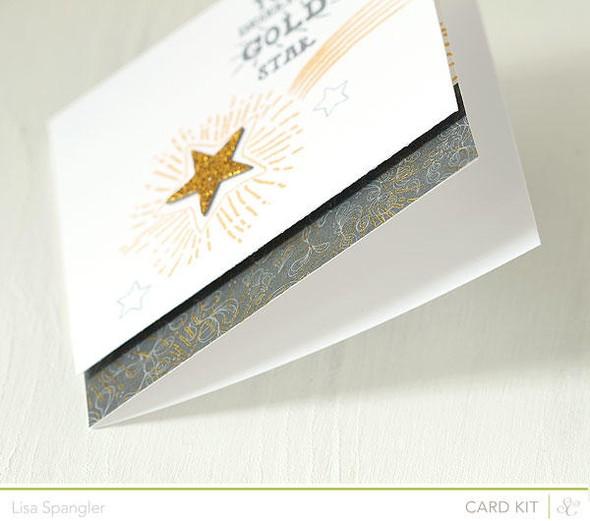 Gold star closeup