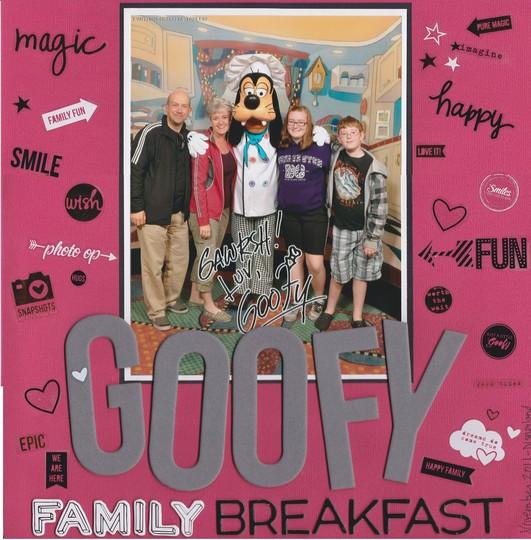 Goofy family breakfast original
