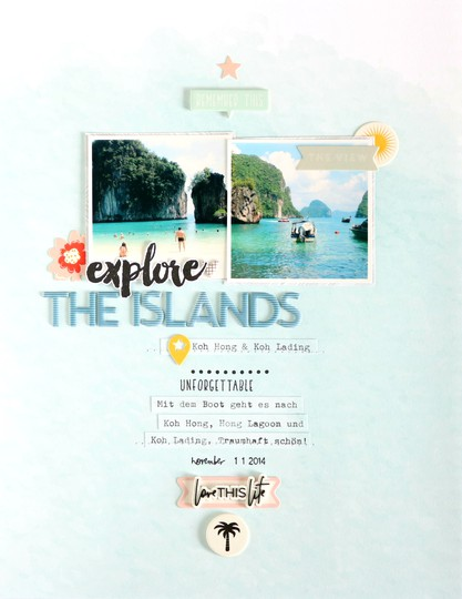 Explore the islands scrapbooking layouts 4 original