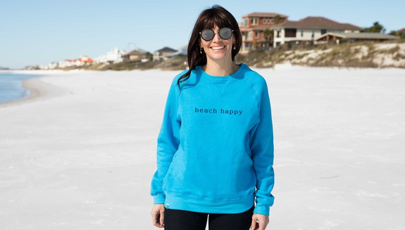 134916 simple beach happy crewneck sweatshirt women 30a blue slider1 original