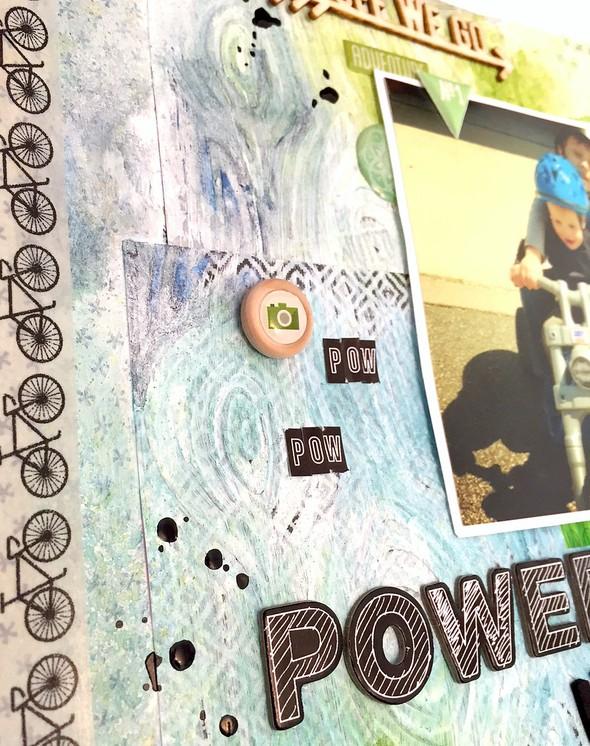 Pow pow power wheels layout   cu  background and embellishments original
