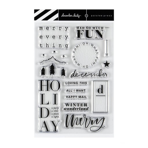 Picture of December Daily® 2019 Merry Everything 4x6 Stamp Set by Paislee Press