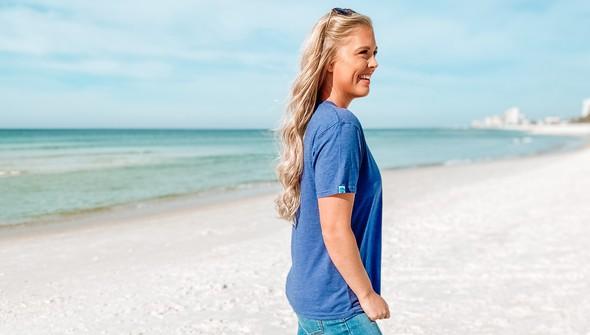 129009 if you love me take me to the beach short sleeve tee women navy slider3 original